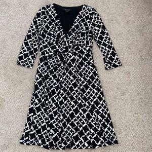 White House Black Market Ruched Dress, Size 2